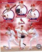 Chris Carpenter, Albert Pujols & Matt Holliday LIMITED STOCK St. Louis Cardinals 8x10 Photo