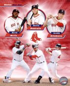 David Ortiz, Dustin Pedroia & Jacoby Ellsbury LIMITED STOCK Boston Red Sox 8x10 Photo