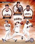 Buster Posey, Tim Lincecum & Pablo Sandoval San Fran Giants 8X10 Photo
