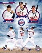 Joe Mauer, Jim Thome & Justin Morneau LIMITED STOCK Minnesota Twins 8X10 Photo