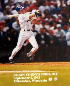 Robin Yount 3000th Hit 11X14 September 9, 1992 Brewers 11X14 Photo