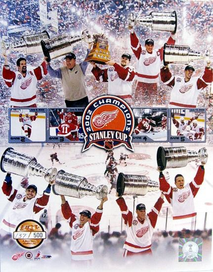 Detroit 2002 Red Wings Stanley Cup Champions 11X14 Numbered Limited Edition Of 500 Red Wings 11X14