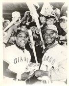 Willie Mays & Ernie Banks LIMITED STOCK San Francisco Giants 8X10 Photo