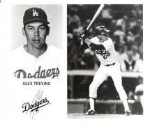 Alex Trevino LA Dodgers Original Press Photo / Wire Photo 8x10