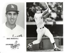 Mike Marshall LA Dodgers Original Press Photo / Wire Photo 8x10