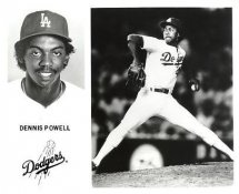 Dennis Powell LA Dodgers Original Press Photo / Wire Photo 8x10