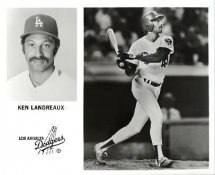 Ken Landreaux LA Dodgers Original Press Photo / Wire Photo 8x10