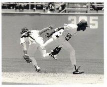 Steve Sax Original Press Photo / Wire Photo 8x10 LA Dodgers