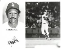 Enos Cabell LA Dodgers Original Press Photo / Wire Photo 8x10