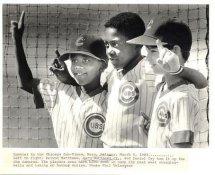 Gary Matthews Jr, Delvon Matthews & Daniel Cey Chicago Cubs Players Sons Original Press Photo / Wire Photo 8x10