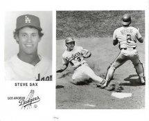 Steve Sax Original Press Photo / Wire Photo 8x10 With Slight Crease LA Dodgers