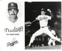 Ed Vande Berg Original Press Photo / Wire Photo 8x10 LA Dodgers Slight Crease