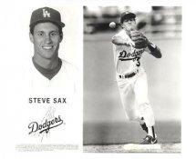 Steve Sax Original Press Photo / Wire Photo 8x10 LA Dodgers Slight Crease