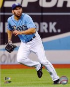 Johnny Damon LIMITED STOCK Tampa Bay Rays 8X10 Photo