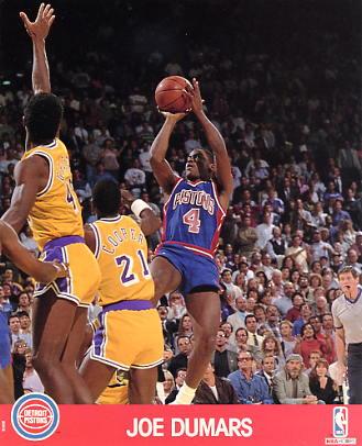 Joe Dumars LIMITED STOCK Detroit Pistons 8X10 Photo