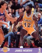 James Worthy SUPER SALE Slight Corner Creases LA Lakers 8X10 Photo