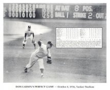 Don Larsen Perfect Game October 8, 1956 W/ Game Stats New York Yankees 8X10 Photo