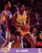AC Green LIMITED STOCK Los Angeles Lakers 8x10 Photo