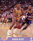 Byron Scott LIMITED STOCK Los Angeles Lakers 8x10 Photo