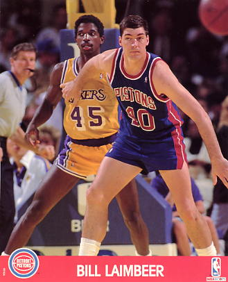 Bill Laimbeer LIMITED STOCK Detroit Pistons 8x10 Photo