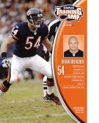 Brian Urlacher 2007 Training Camp Super Card W/ Team Roster on Back Chicago Bears 7X10 Photo