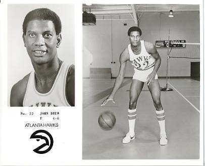 John Drew LIMITED STOCK Atlanta Hawks 8X10 Photo
