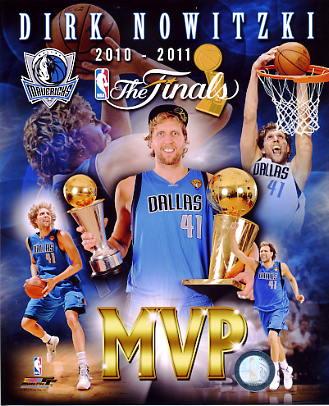 Dirk Nowitzki MVP Composite 2011 NBA Finals Dallas Mavericks 8X10 Photo LIMITED STOCK