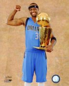 Jason Terry with Champs Trophy 2011 NBA Finals Dallas Mavericks 8X10 Photo LIMITED STOCK