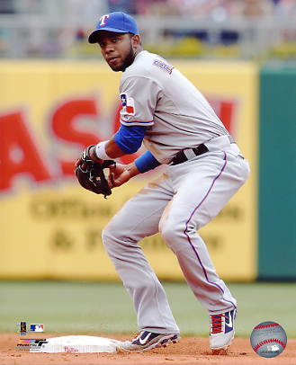 Elvis Andrus LIMITED STOCK Texas Rangers 8X10 Photo