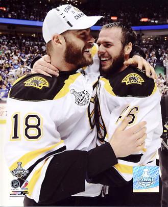 Nathan Horton & David Krejci Game 7 Stanley Cup Finals 2011 Boston Bruins 8x10 Photo