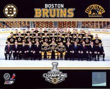 Bruins 2011 Stanley Cup Champions Sit Down Boston 8x10 Photo