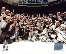Bruins 2011 Celebration on Ice Stanley Cup Win Game 7 Boston 8x10 Photo