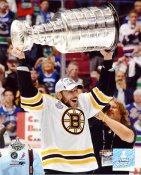 Milan Lucic with 2011 Stanley Cup Boston Bruins 8x10 Photo
