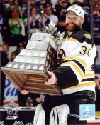 Tim Thomas with Conn Smyth Trophy 2011 Stanley Cup Boston Bruins 8x10 Photo