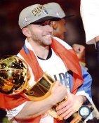 Jose-Juan Barea with Champs Trophy 2011 NBA Finals Dallas Mavericks 8X10 Photo LIMITED STOCK