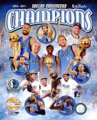 Mavericks 2011 Dallas NBA Champions Numbered Limited Edition Composite 8X10 Photo