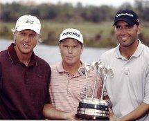 Greg Norman, Jeff Sluman & Hank Kuehne LIMITED STOCK 8X10 Photo