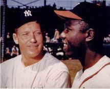 Mickey Mantle & Hank Aaron LIMITED STOCK New York Yankees 8x10 Photo