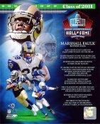 Marshall Faulk Hall Of Fame St. Louis Rams SATIN 8X10 Photo