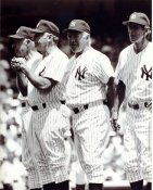 Joe DiMaggio, Mickey Mantle, Whitey Ford & Billy Martin LIMITED STOCK New York Yankees Coaches 8X10 Photo