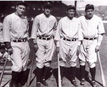 Lou Gehrig, Babe Ruth Murderers Row 1927 New York Yankees 8X10 Photo