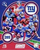 Giants 2011 New York Team 8x10 Photo