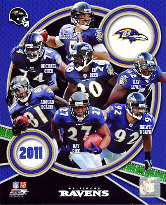 Ravens 2011 Baltimore Team 8x10 Photo