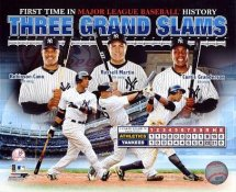 Robinson Cano,Curtis Granderson & Russell Martin 3 Grand Slams 1 Game New York Yankees 8X10 Photo