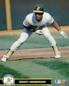 Rickey Henderson Oakland Athletics SUPER SALE Glossy Card Stock 8X10 Photo