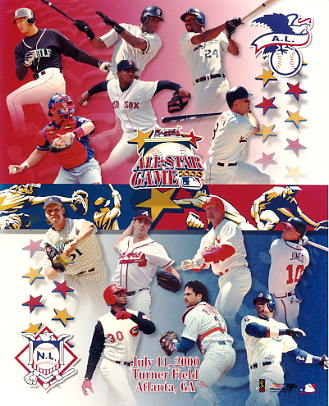 All-Star 2000 LIMITED STOCK American League / National League Team Photos 8X10 Photo