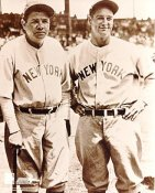 Babe Ruth & Lou Gehrig LIMITED STOCK New York Yankees 8X10 Photo