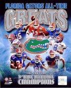 Fred Taylor, Tim Tebow, Emmitt Smith, Joe Haden, Rex Grossman, Percy Harvin, Brandon Spikes, Jabar Gaffney Florida Gators All-Time Greats 8X10 Photo LIMITED STOCK -