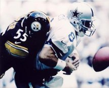 Joey Porter Tackles Troy Aikman SUPER SALE Pittsburgh Steelers 8x10 Photo