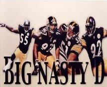 "Joey Porter, Kendrell Bell, James Farrior, Jason Gildon ""Big Nasty D"" SUPER SALE Pittsburgh Steelers 8x10 Photo"